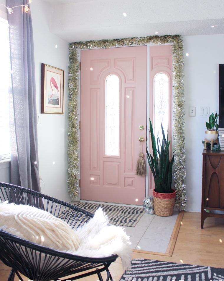 Gorgeous pink entrance door