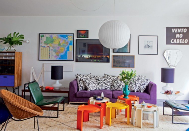 colorful contemporary interiors.