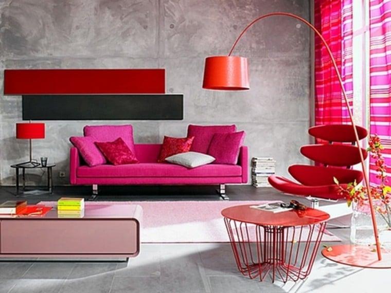 Urban pink interiors.