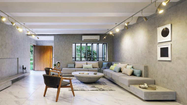 Modern Interiors with primary colors