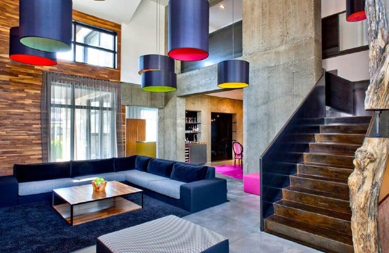 Urban colorful interior design.