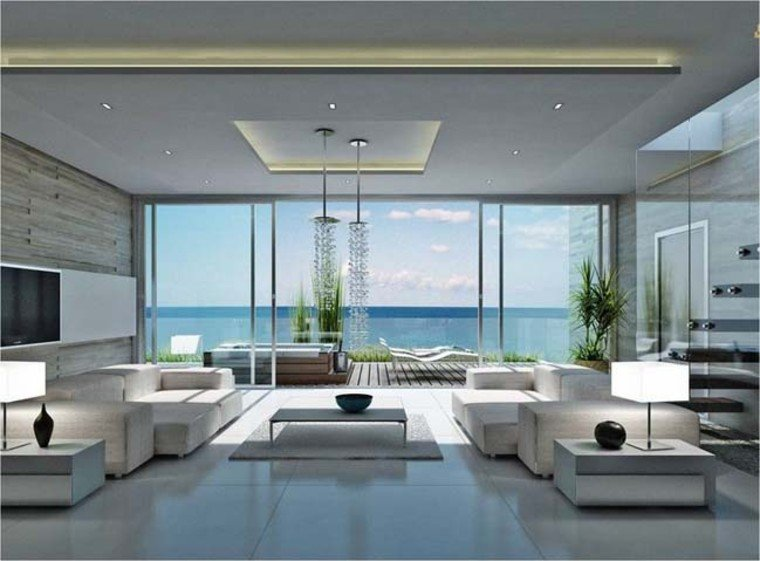 Luxury and minimalistic interior design.