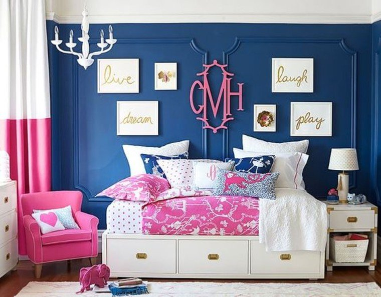 Dramatic contrast in bedroom.