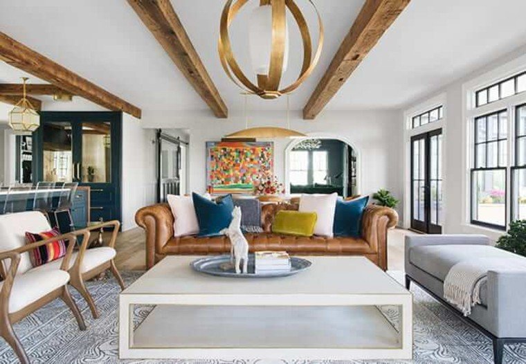 Exposed beams make a beautiful contemporary design.