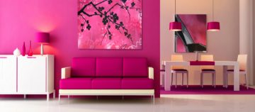 Pink home interiors