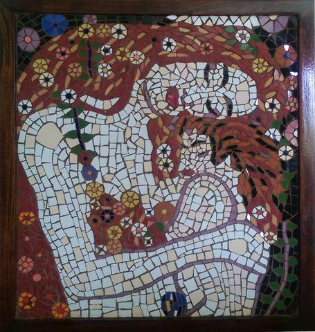 Mother and Child mosaic artwork by Muna Siddiqui