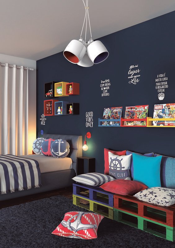 Seats for kids' bedroom.  Design Inspiration by Mosaics Lab