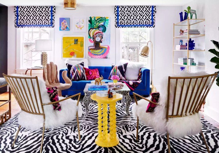 Colorful Interiors with bold prints. Interior Design Inspiration by Mosaics Lab