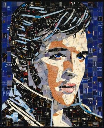Elvis mosaic artwork by Sandhi Schimmel | Mosaic Art Inspiration by Mosaics Lab