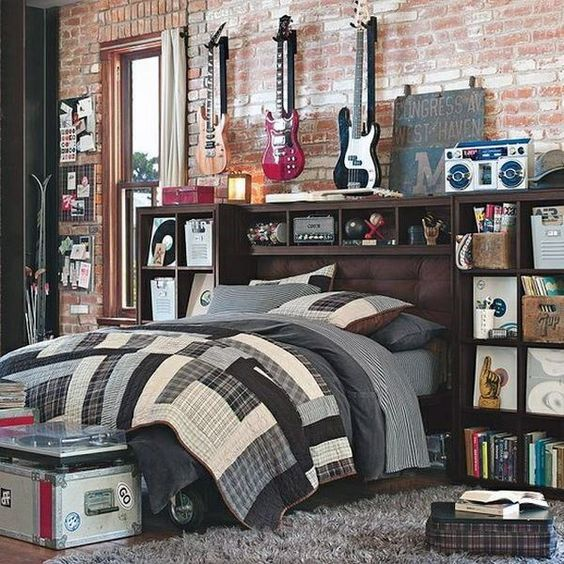 Beautiful storage space for a teenager's bedroom.  Design Inspiration by Mosaics Lab