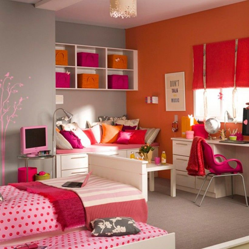 Flashy colors are perfect for girls' bedroom.  Design Inspiration by Mosaics Lab