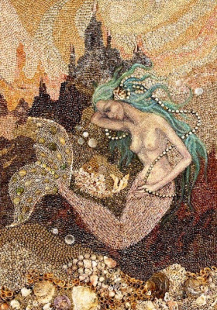 Stunning mermaid mosaic design
