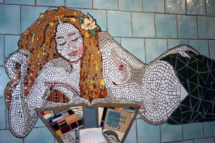 Mermaid Mosaic Artwork created by Char Green and Sarah Dorrance.