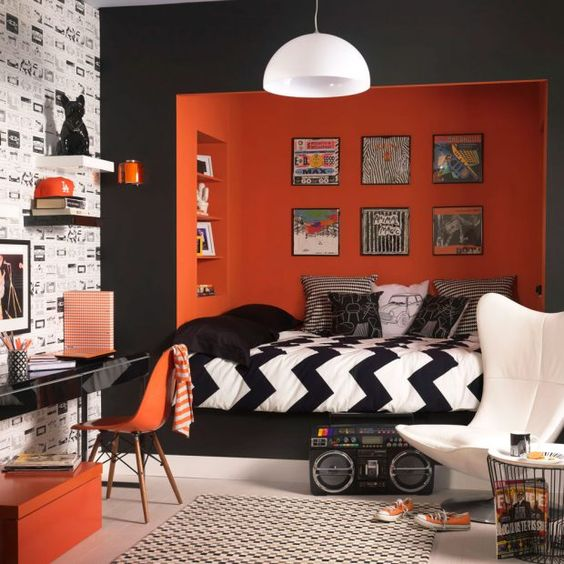 Funky furniture make amazing teenager's room interiors.  Design Inspiration by Mosaics Lab