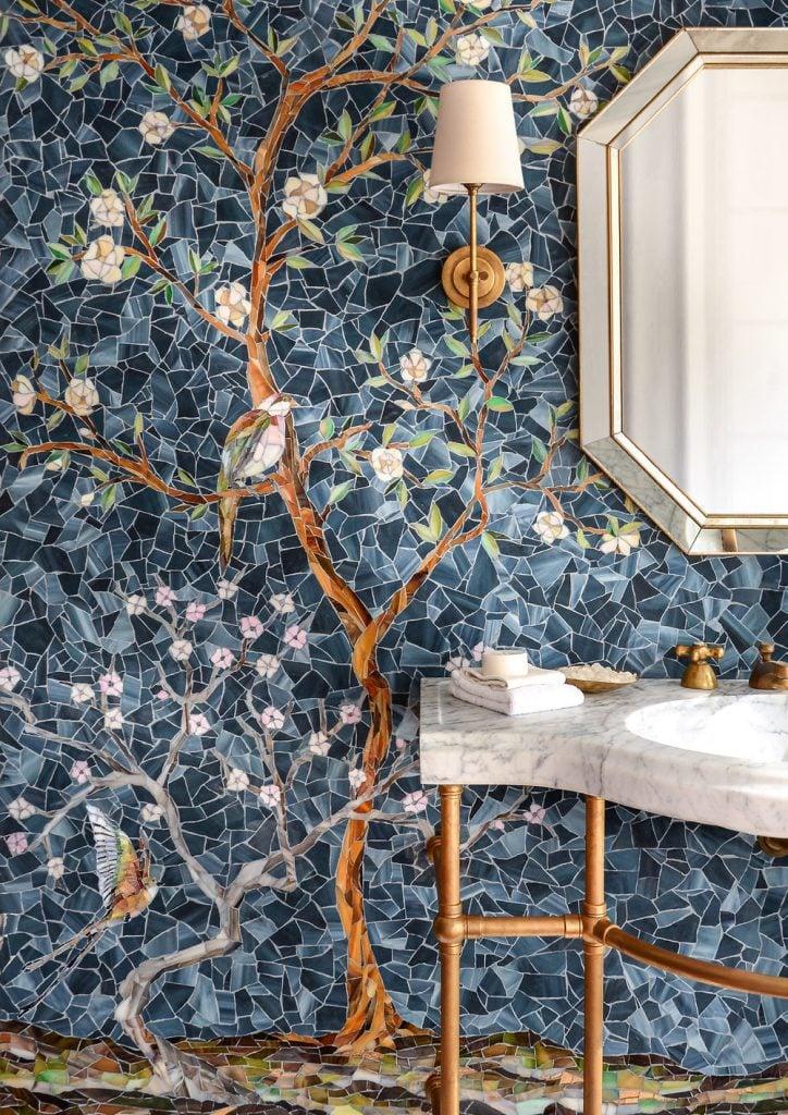 Gorgeous Mosaic wall decor. Mosaic Design inspiration by Mosaics Lab.