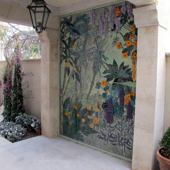 Jane du Rand's gorgeous mosaic wall artwork. Mosaic design inspiration by Mosaics Lab.