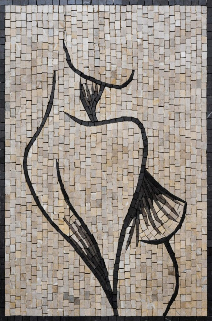 The unfinished masterpiece mosaic design by Mosaics Lab