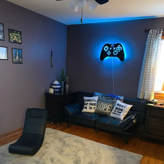 Beautiful decor for teenager gamers.  Design Inspiration by Mosaics Lab