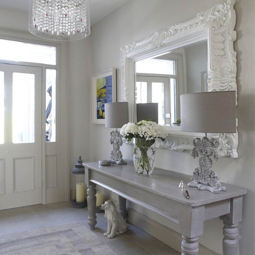 Best place for a mirror. Interior Design inspiration by Mosaics Lab