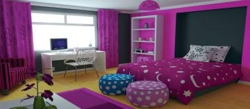 Colorful teenager's room