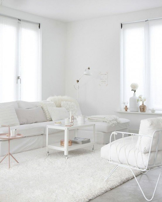 All white interiors. Interior Design inspiration by Mosaics Lab