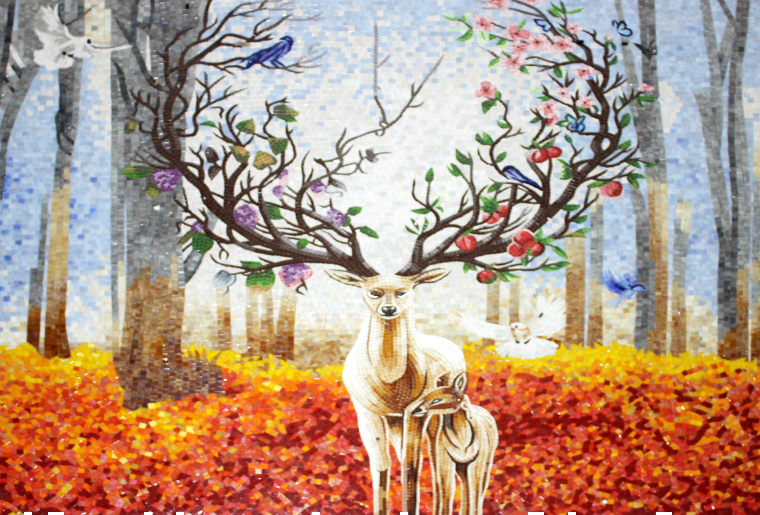Gorgeous Fall inspired mosaic artwork by mosaics lab