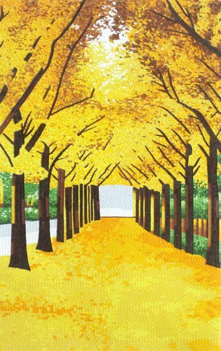 Glorious Autumn Mosaic design by Mosaics Lab