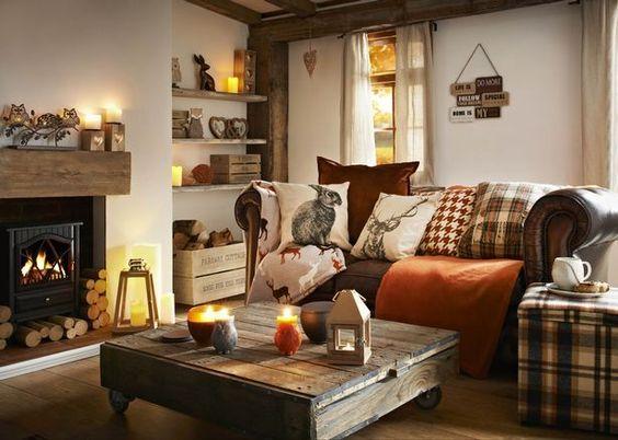 Beautiful Fall inspired home decor. Fall Decor Ideas.