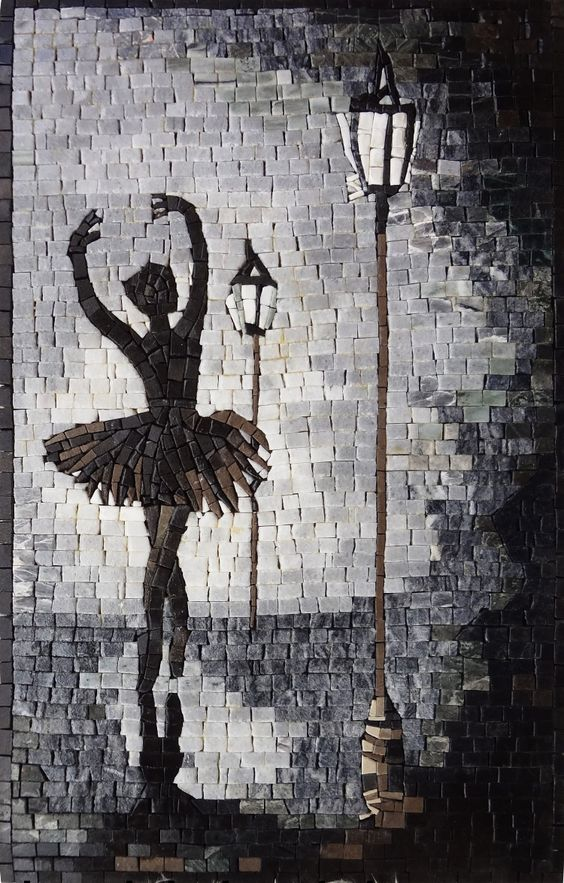 Ballet Dancer Mosaic design by Mosaics Lab