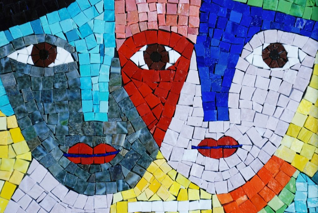 Gemini mosaic, Gorgeous Mosaic Artwork | Mosaic Design Inspiration by Mosaics Lab