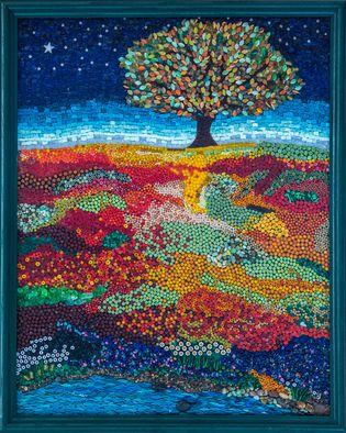 Dreaming tree Mosaic art by Marlies Wandres | Mosaic Art inspiration by Mosaics Lab