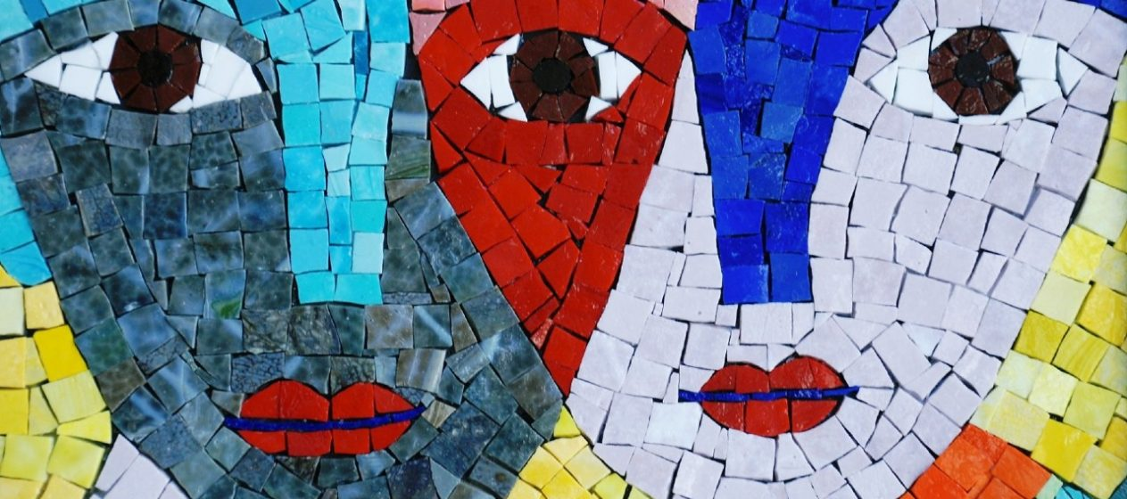 Mosaic quote art inspiration.