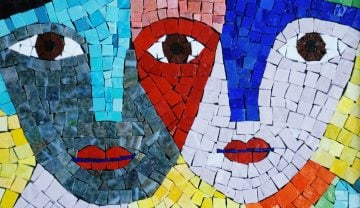 Mosaic quote art inspiration.