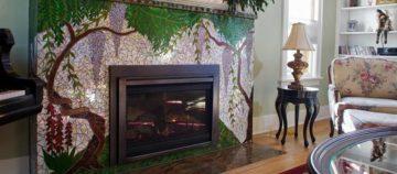 Fireplace Mosaic Art and Design
