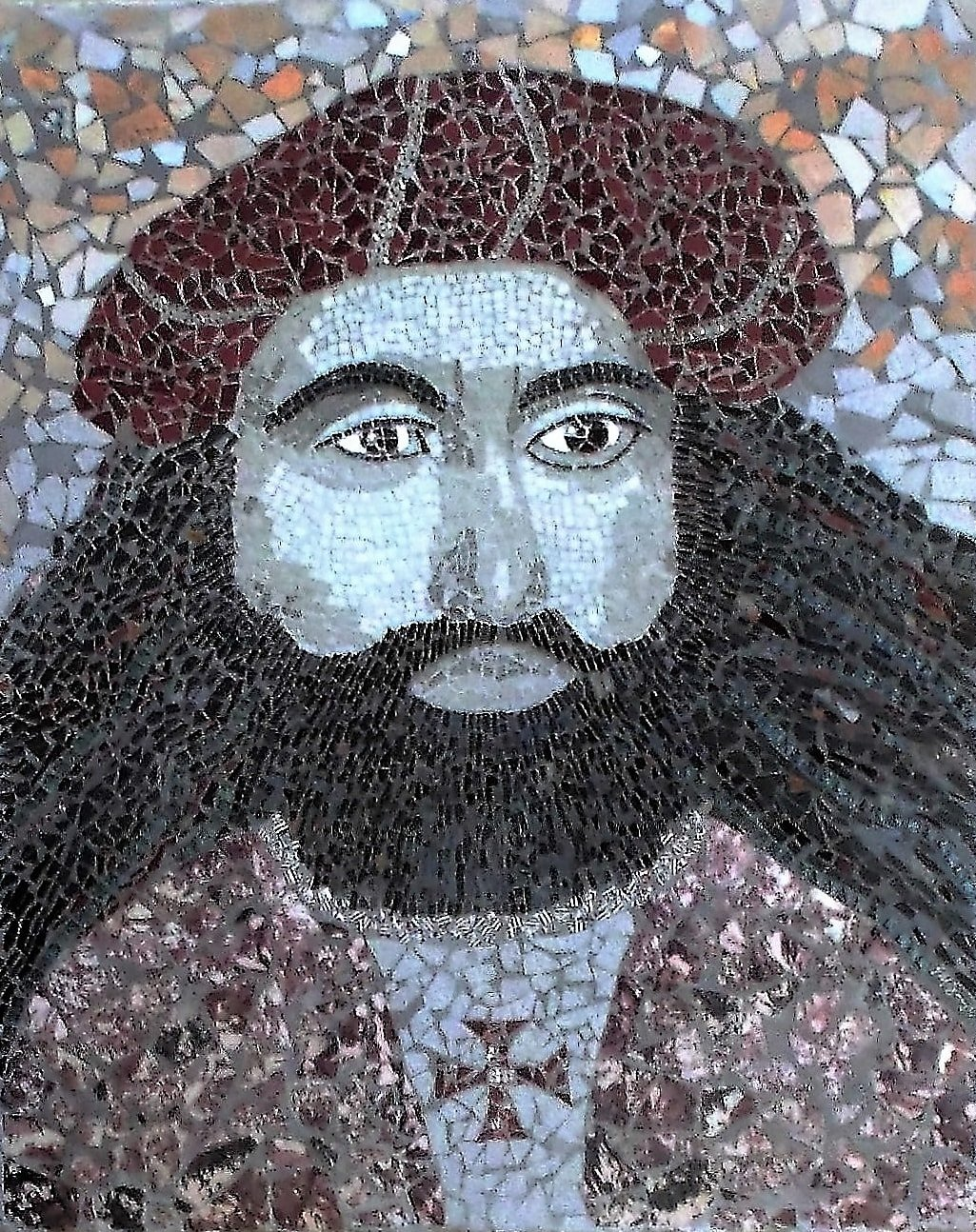 Mosaic portrait of Vasco da Gama by Mosaics Lab