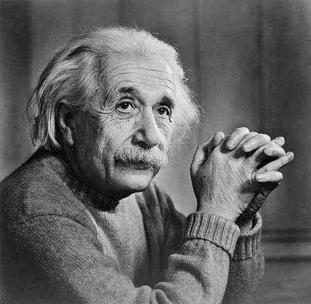 Albert Einstein black and white portrait