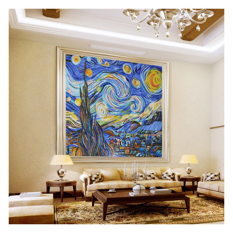 Starry Night Mosaic Mural by Mosaics Lab | Black Friday Promotion