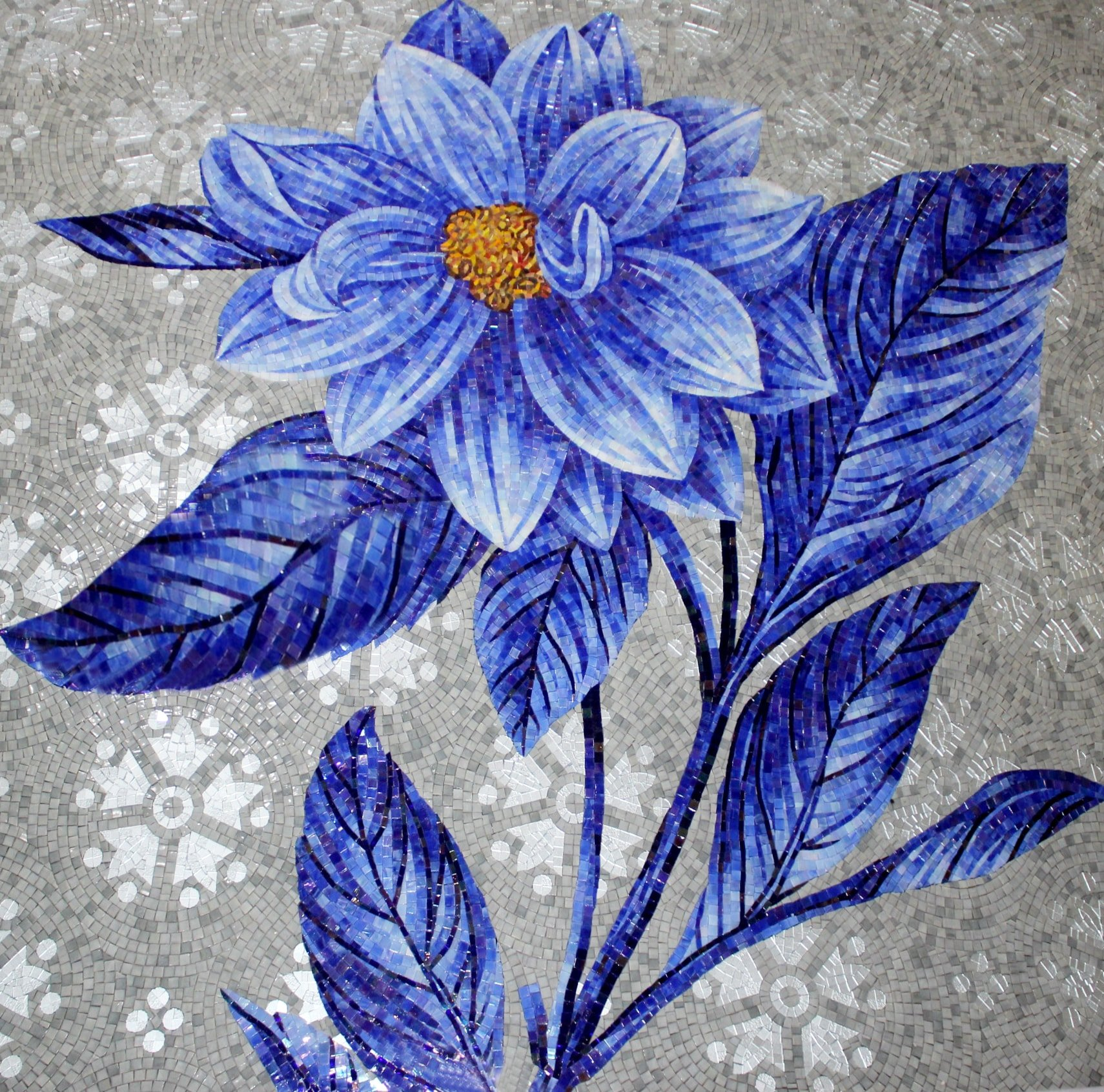 Flower Mosaic Art and Design by Mosaics Lab
