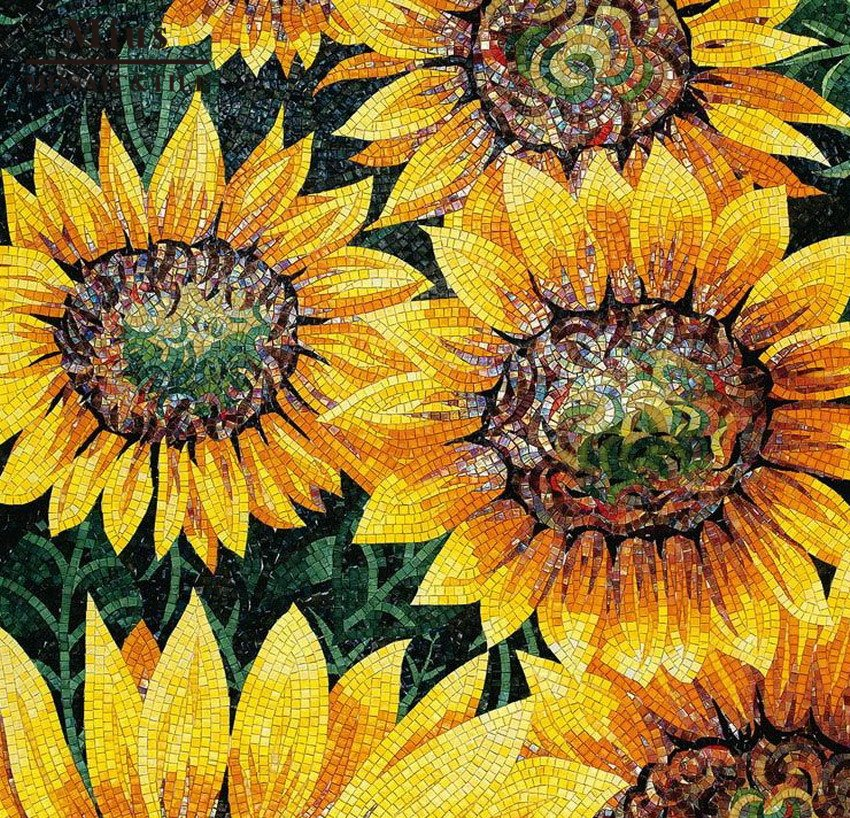 Sunflower Mosaic Mural by Mosaics Lab | Black Friday Promotion