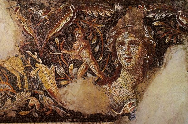Stunning ancient mosaic portrait.