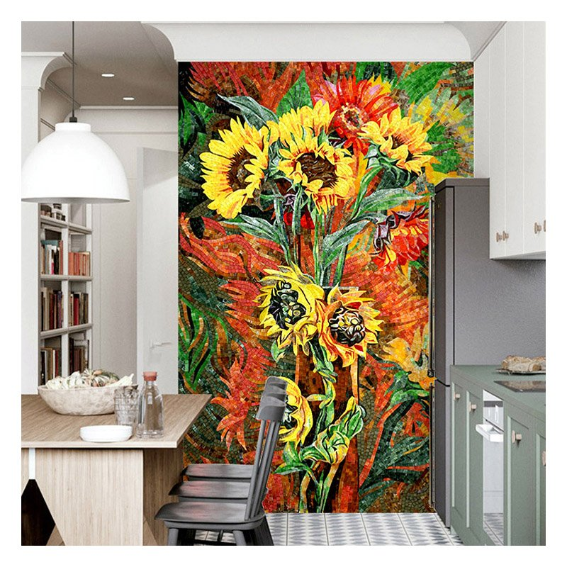Contemporary Mosaic Mural by Mosaics Lab | Black Friday Promotion