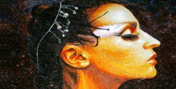 Portrait mosaic design by Mosaics Lab