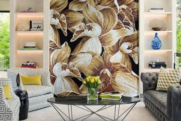 Floral Mosaic Design by Mosaics Lab