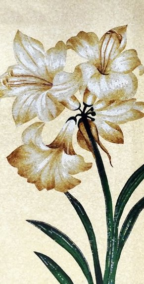 Gorgeous lilies mosaic design by Mosaics Lab
