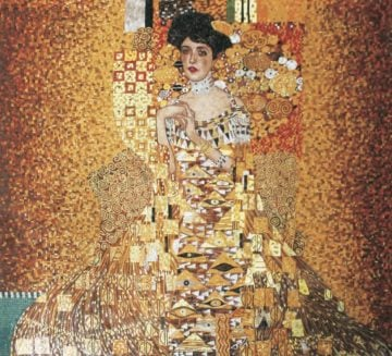 Klimt mosaic reproduction by Mosaics Lab