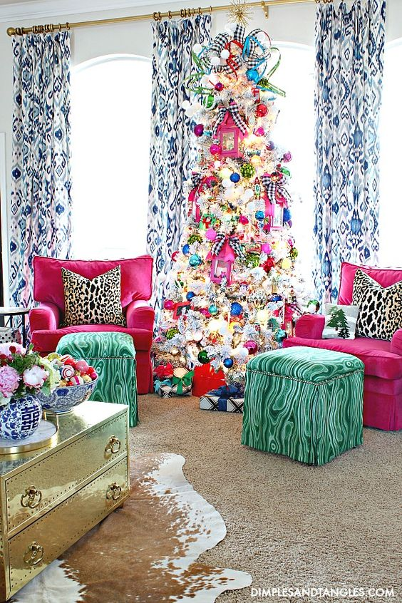 Colourful and lively Christmas interiors. Interior Inspiration by Mosaics Lab
