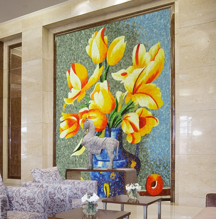 Gift her mosaic flowers that would last her a lifetime. Flower Mosaic by Mosaics Lab
