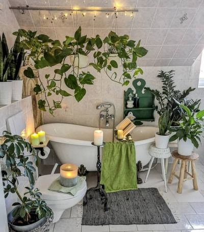 Nature inspired bathroom interiors