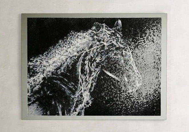 Stunning Horse Mosaic Mural by Mosaics Lab