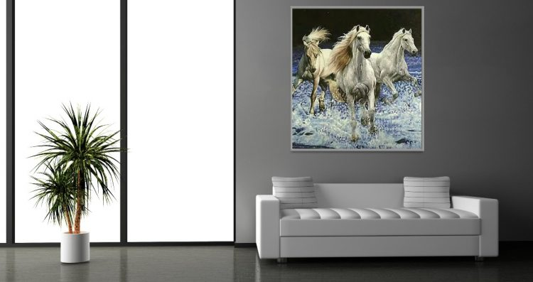 horse mosaic artworks by Mosaics Lab